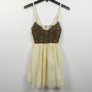 One Teaspoon x Free People | Gold Rush Slip Dress